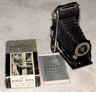 agfa ansco readyset special vintage folding film camera 1941