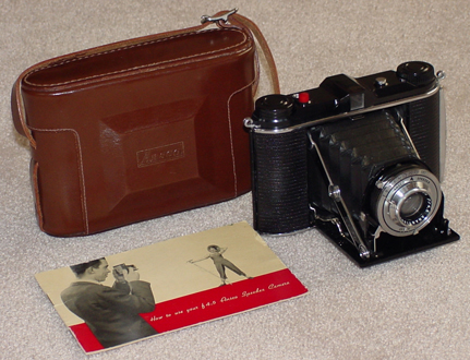 ansco speedex 4.5 vintage folding film camera 1946