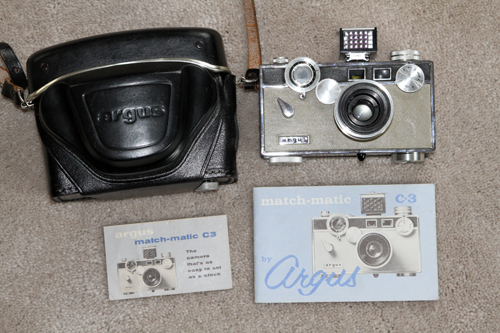 argus c3 matchmatic vintage film camera 1958