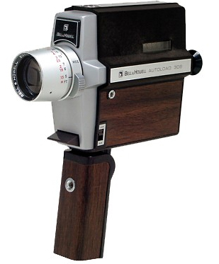 bell & howell 308 vintage 8 mm movie camera 1969
