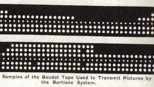 bartlane photo transmission system digitized tape