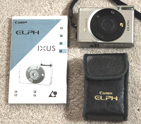 canon elph, ixus, ixy shirt-sized digital camera 1996