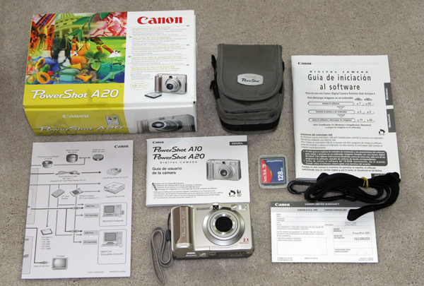 canon powershot a20 vintage digital camera 2001