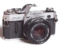 canon ae-1 first built-in microprocessor vintage 35 mm film camera 1976