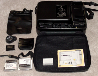 canon rc-250 xapshot still video camera set 1988