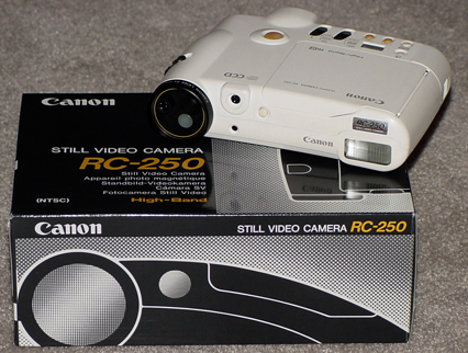 canon q-pic rc-250 still video camera white 1988
