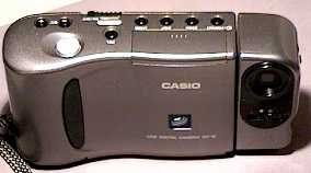 casio qv-10 lcd viewfinder digital camera front view 1995
