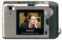 casio qv-70 digital camera rear view 1997