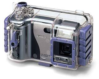 casio hu-7000 transparent water-proof housing for  qv-7000sx vintage digital camera 1998