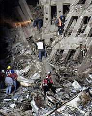 9/11 2001 collapsed building by chang lee
