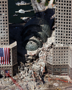 9/11 2001 collapsed building photo by chang lee