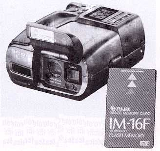 fujix ds-h2 memory card digital ccd camera 1992