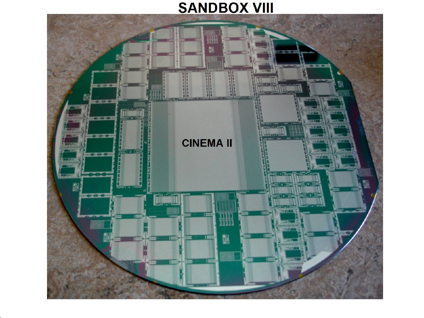 Janesick Pixel Vision Inc. Cinema II Sandbox VIII commercoial CCD wafer