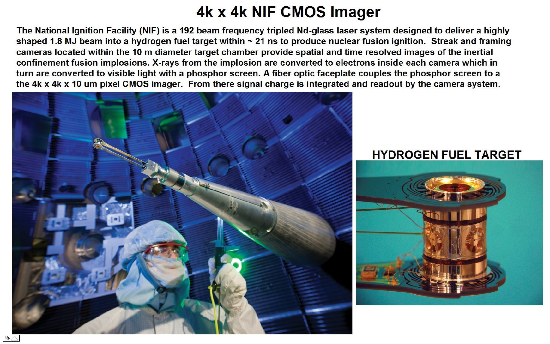 janesick 4k x 4k National Ignition Facility commercial imager
