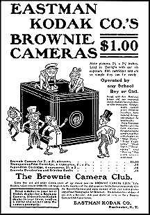 advertisement for kodak brownie film cameras 1900