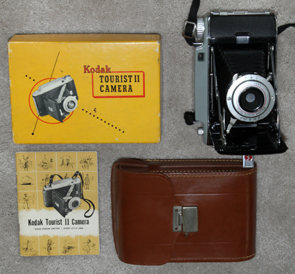 kodak tourist II vintage film camera 1951
