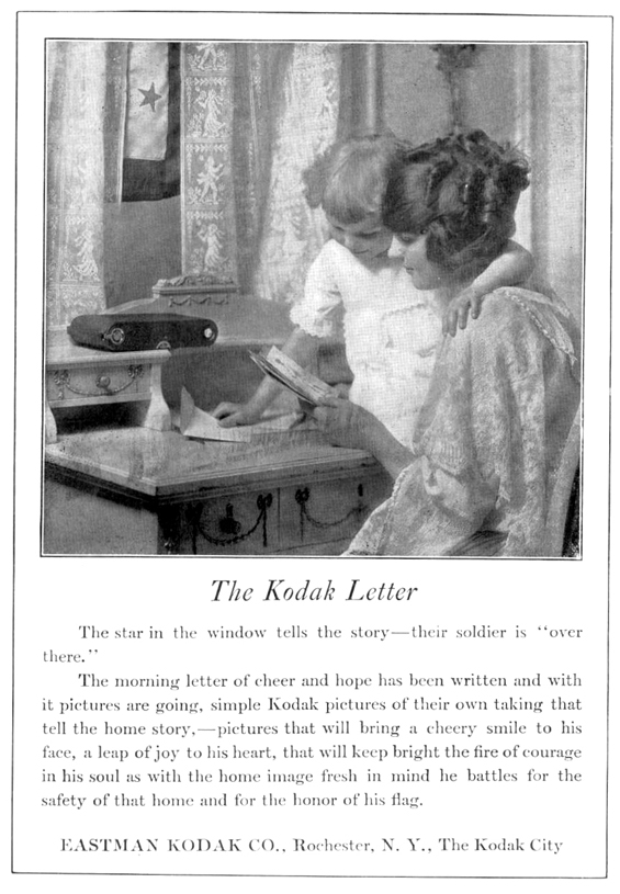 kodak advertisement in 1918 national geographic magazine