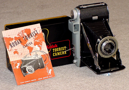 kodak tourist vintage folding film camera