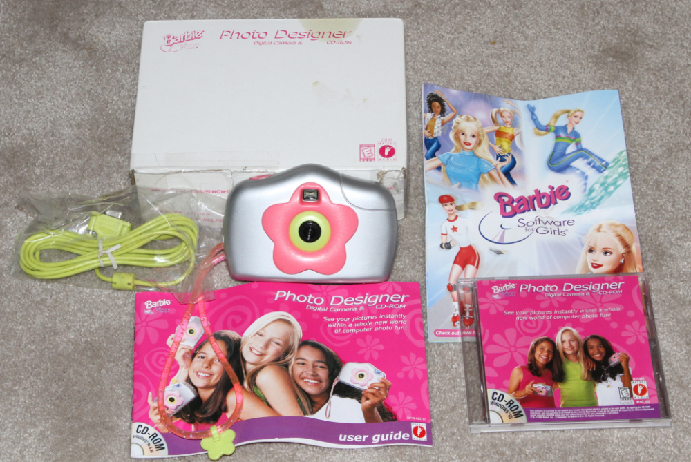 Mattel barbiecam digital camera kit