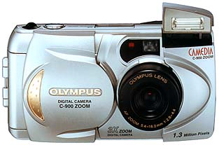 olympus camedia c-900 zoom, d-400 vintage digital camera 1998