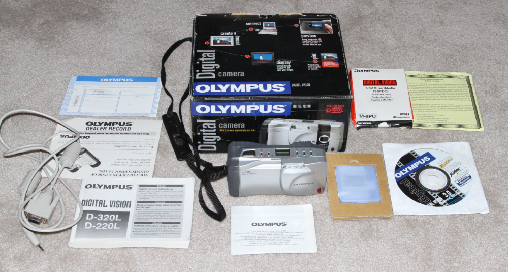 Olympus camedia C-420L digital camera kit