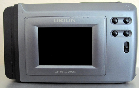 orion digisnap ds21 digital camera rear view 1997