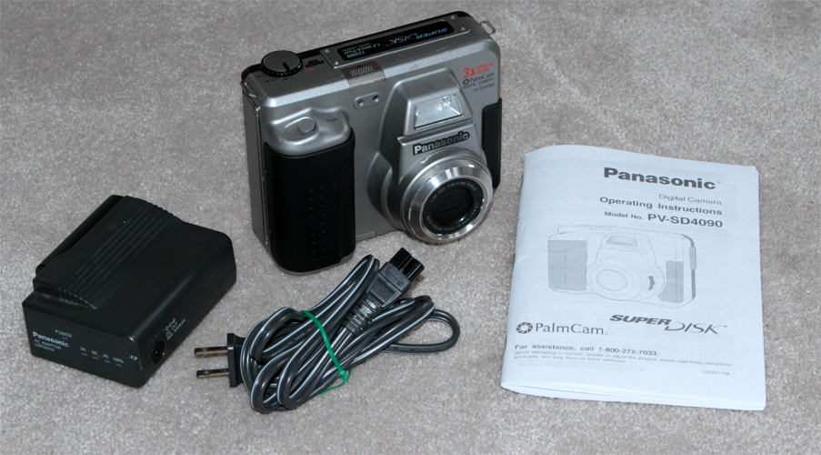 panasonic pv-sd4090 vintage floppy disk digital camera 1999
