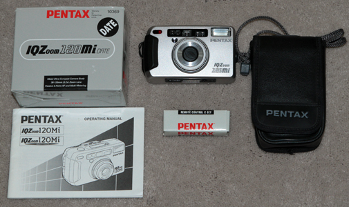 pentax iq zoom 120mi vintage digital camera 1999