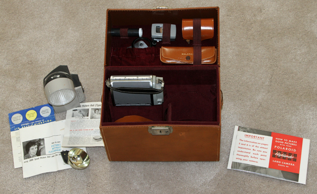 polaroid model 80, 80a and 80b highlander instant film camera 1954