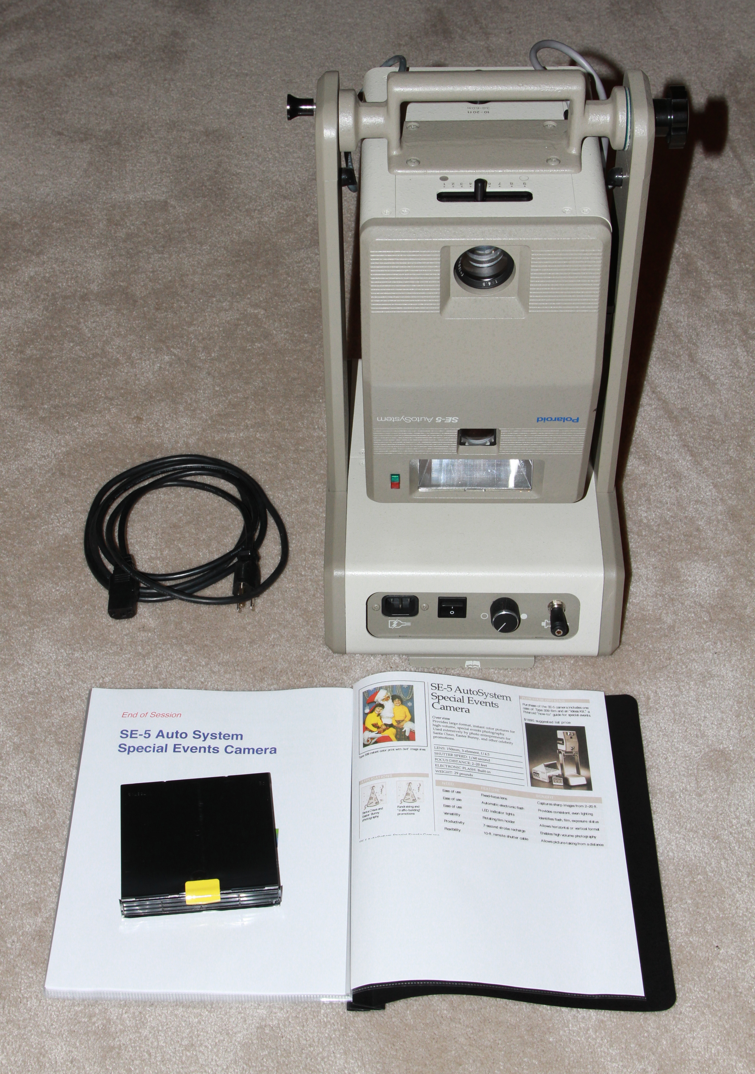 polaroid se-5 special events camera folded 1988