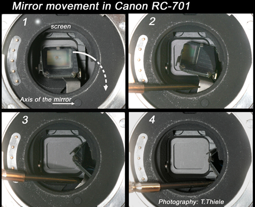 canon rc-701 mirror system 1986
