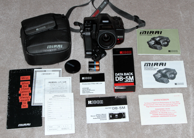 ricoh mirai 35 mm film camera set 1988