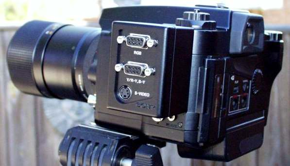 sony mvc-7000 promavica still video camera in use 1992
