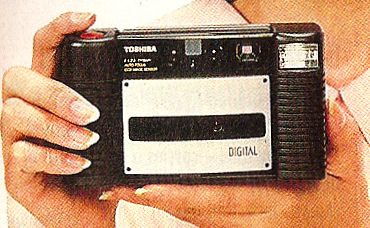 toshiba ic-100 memory card digital camera 1989