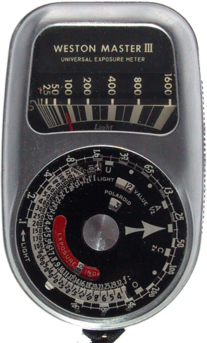 weston master III 737 vintage light meter 1955