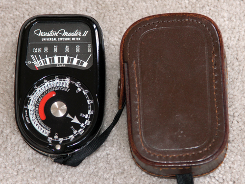 weston master II model 735 vintage light meter 1945