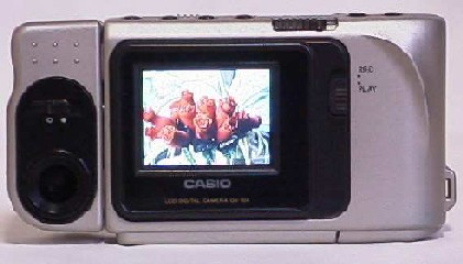 casio qv-10 lcd viewfinder digital camera rear vieew 1995