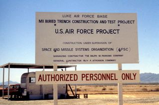 MX underground missile test project