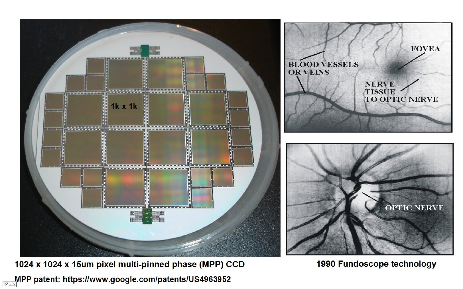 Janesick commercial multi-pinned phase CCD wafer