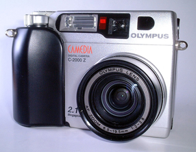 olympus camedia c-2000 zoom vintage digital camera 1998
