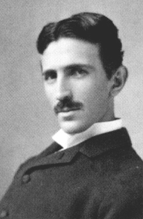 nikoli (nikola) tesla, inventor of radio, electric generator, electgric motor, flourescent lighting, alternating current, discovero of the rotating magnetic field 1856